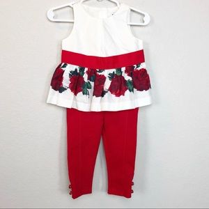 Janie & Jack Rose Outfit NWT 6-12 month